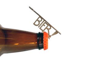 Bier! Keychain Bottle Opener in Stainless Steel