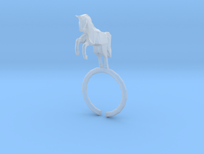 Horse Ring in Smooth Fine Detail Plastic