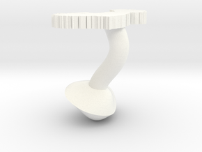 Connaught Cufflink in White Processed Versatile Plastic