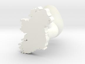 Waterford Cufflink in White Processed Versatile Plastic