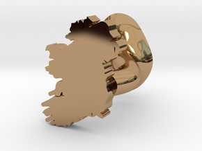 Limerick Cufflink in Polished Brass