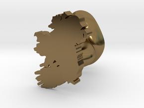 Leinster Cufflink in Polished Bronze