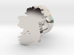 Leinster Cufflink in Rhodium Plated Brass