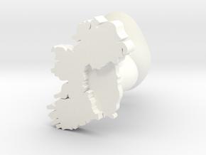Munster Cufflink in White Processed Versatile Plastic