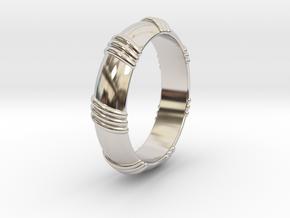 Ø0.650 inch/Ø16.51 mm Ring in Rhodium Plated Brass
