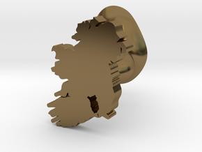 Kilkenny Cufflink in Polished Bronze