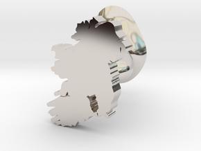 Kilkenny Cufflink in Rhodium Plated Brass