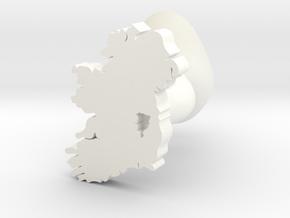 Kildare Cufflink in White Processed Versatile Plastic