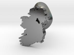 Monaghan cufflink in Polished Silver