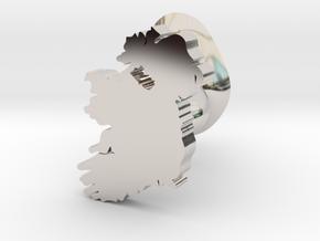 Fermanagh Cufflink in Rhodium Plated Brass