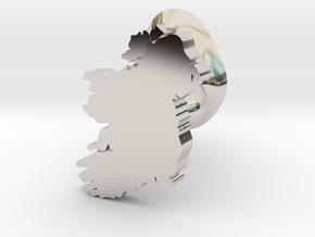 Donegal cufflink in Rhodium Plated Brass