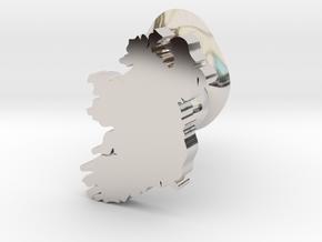 Derry Cufflink in Rhodium Plated Brass