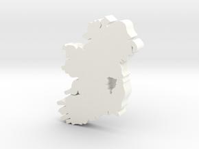 Kildare Earring in White Processed Versatile Plastic