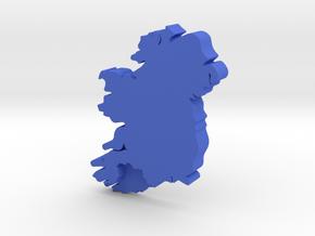 Cork Earring in Blue Processed Versatile Plastic