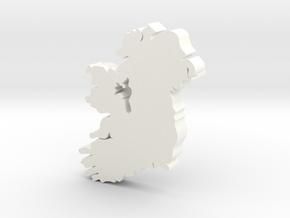 Roscommon Earring in White Processed Versatile Plastic