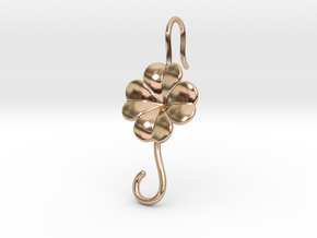 Lucky Earring With Hook in 14k Rose Gold Plated Brass
