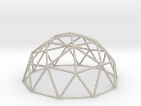 Geodesic Dome in Natural Sandstone
