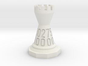 Chess shaped Dice (hollow) in White Strong & Flexible: d00
