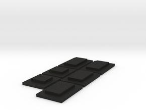 Fenstereinsätze ELW 2 Seitenfenster in Black Acrylic