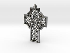 Celtic Cross in Fine Detail Polished Silver