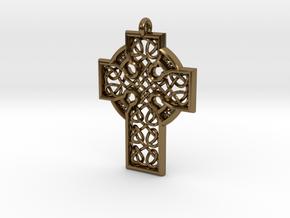 Celtic Cross in Polished Bronze