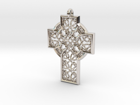 Celtic Cross in Rhodium Plated Brass