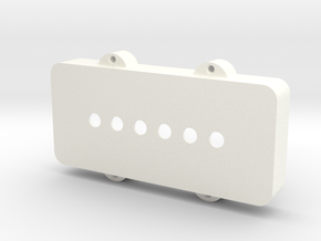 Jazzmaster Pickup Cover - Standard in White Strong & Flexible Polished
