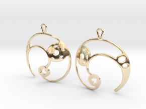 Enso No. 2 Earrings in 14k Gold Plated Brass