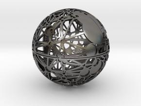 Craters of Luna Desk Sculpture in Polished Nickel Steel