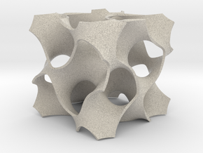 Gyroid Math Geometry in Natural Sandstone