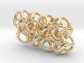 Spherical Cuboid Chain in 14k Gold Plated Brass