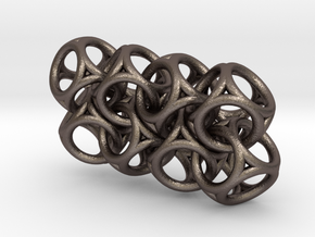 Spherical Cuboid Chain in Polished Bronzed Silver Steel