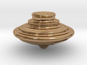 Impeller Top v2 in Polished Brass
