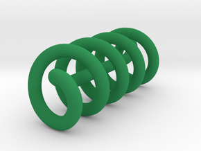 Continuous Helix Medium in Green Processed Versatile Plastic