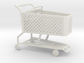 1:24 Shopping Cart in White Natural Versatile Plastic