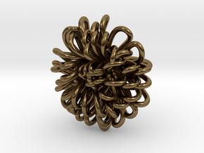 Ring 'Wiener Blume', Size 3.5 (Ø 14.4 mm) in Polished Bronze