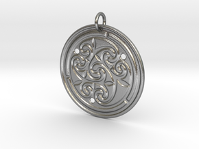 Norse Motif Round Medallion (for precious metals) in Natural Silver