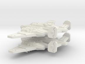 Bomber (Short nose version) in White Natural Versatile Plastic