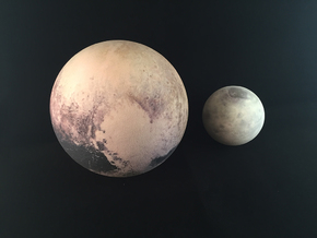 Pluto & Charon - 13 July in Full Color Sandstone