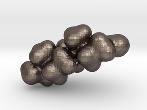 Testosterone electrostatic potential map in Polished Bronzed Silver Steel