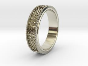 Ø0.666 inch/Ø16.92 Mm Detailed Ring in 14k White Gold