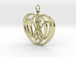 Iðunnarepli - An apple of Iðunn in 18k Gold Plated Brass