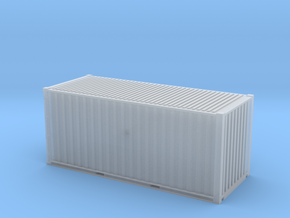 20' Cube ISO Container (N Gauge 1:148) in Smooth Fine Detail Plastic
