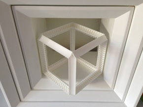 Perspective Cube Illusion 15cm in White Natural Versatile Plastic