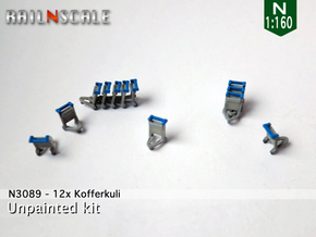 12x Kofferkuli (N 1:160) in Smoothest Fine Detail Plastic