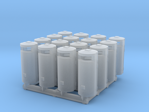 Trashbin 02. HO Scale (1:87) in Smooth Fine Detail Plastic