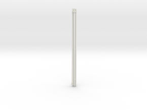 1:96 scale Navy whip antenna - Round (35 foot) 10  in White Natural Versatile Plastic