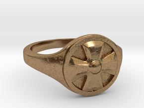 Ring Templier : Croix de Malte // Size US 10 3/4 in Natural Brass
