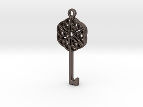 Friggjarlykill #2  - Key of Frigg in Polished Bronzed Silver Steel