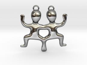 Gemini Pendant in Fine Detail Polished Silver